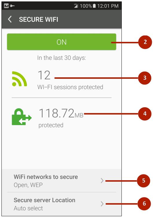 10 (Secure Wi-Fi Main Screen)